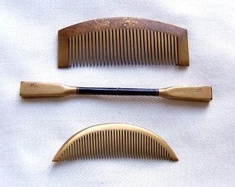 3 vintage Japanese Kanzashi hair accessories geisha hair comb hair pick hair fork hair ornament hair jewelry (AAG)