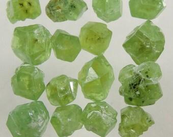 14 cts green demantoid garnet rough crystal lot AA Pakistan