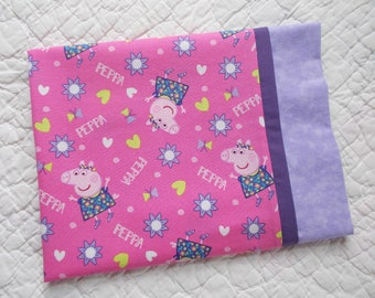 Peppa Pig Childrens or Travel size  Pillow Case