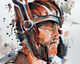 Thor Ragnarok movie print,marvel movie,watercolors,comics art,marvel art,comic prints, power rangers posters, movie art, DC comics