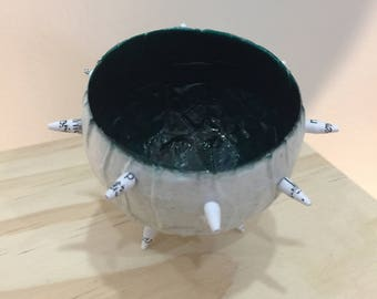 EME OCEAN'S REEF Paper Urchin Pod - handmade paper maché ocean reef sea urchin