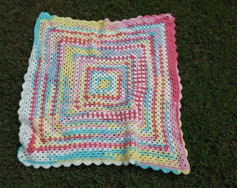 Tootie Fruitie Granny Square baby afghan
