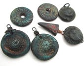 jewelry de-stash polymer clay Claire Maunsell assemblage jewelry parts boho rustic jewelry