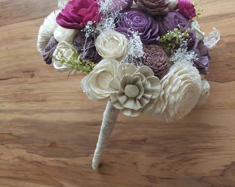 Sola bouquet,  spring bouquet,  spring flowers,  wedding bouquet,  wood flower,  flower bouquet,  Valentine's day gift,  Valentine's flowers