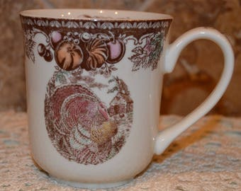 Lovely Johnson Brothers Mug~Autumn Monarch~England~From Original Engraving~EUC!