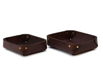 Leather Valet tray //Accessories tray // Catch-all tray // DE BRUIR