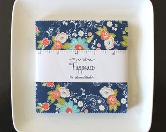"Tuppence by Shannon Gillman Orr for Moda Charm Pack 5"" Squares"