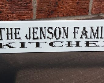 Shabby chic vintage personalised kitchen free standing sign plaque