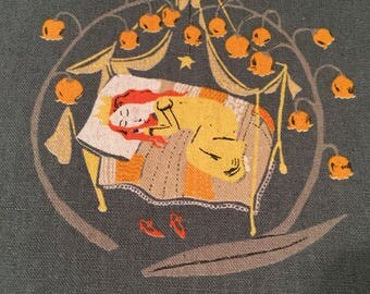 Heather Ross Kokka Far Far Away 2 Sleeping Beauty Gray FQ