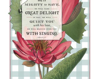 Floral Scriptures Zephaniah 3:17