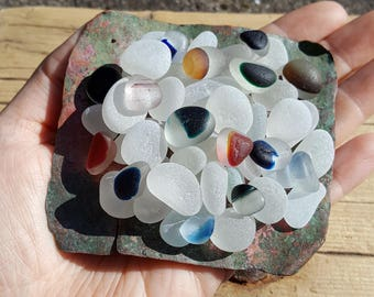 SEAHAM NEST | Multis | Rare Seaham Sea Glass | End Of Day | Sea Metal Base | Collection | Scottish Beach Finds (6928)