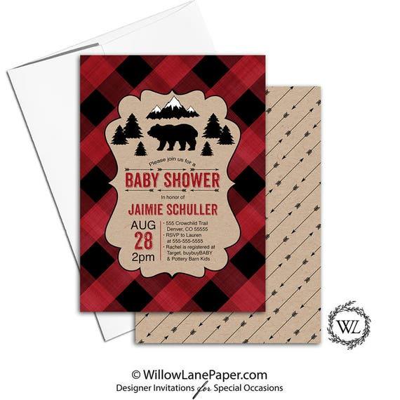 Lumberjack baby shower invitation christmas baby shower invitation il570xn filmwisefo Choice Image