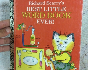 15% OFF 1992 Richard Scarry Best Little Word Book Ever Little Golden Books