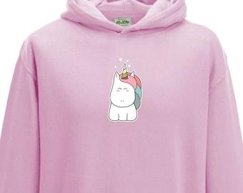 Cute Kawaii Unicorn Hoodie - Child Hoodie - Kids Hoodie