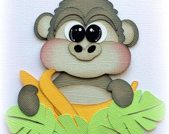 Adorable gorilla zoo animal premade paper piecing 3d die cut by my tear bears kira