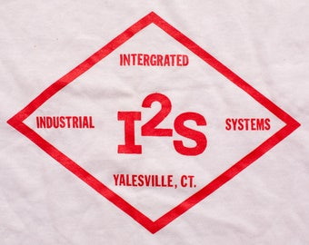 I2S Intergrated Industrial Systems T-Shirt, Yalesville CT, Vintage 80s, Screen Stars, See-Thru Thin 50/50 Graphic Tee