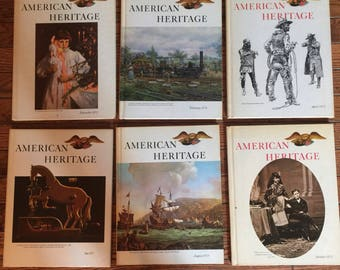 Vintage 1973 1974 American Heritage Magazine of History Books Set of 6
