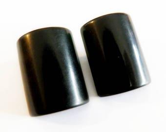 Black Bakelite Buttons
