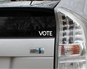 Vote Elections Vinyl Decal Die Cut Rub-On Sticker Bumper Political Liberal Car Laptop