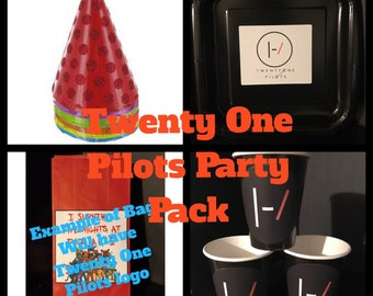 Twenty One 21 Pilots Birthday Party SUPER PACK for 8 | Rock band