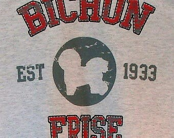 Womens TANK TOP Bichon Frise Dog Choose Size and Color 17391