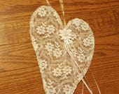 Private RESERVED Listing for Valarie Wire Lace Heart