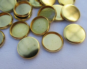 50pcs 10mm Round Cabochon Setting Brass Bezel Cup t118