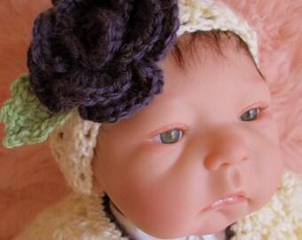 Summer Sale Crochet Pattern Baby Flower Headband by Teri Crews instant download PDF format
