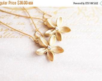 SALE Earrings, Flower Earrings, Plumeria Earrings, Long Earrings, Dangle Earrings, Gold Earrings, Drop Earrings, Hawaii, Handmade Earrings,