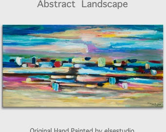 "Art, Painting, Oil, Original art, Texture wall Art, abstract painting, oil painting, canvas art, Home Decor painting, 48"" x 24"""