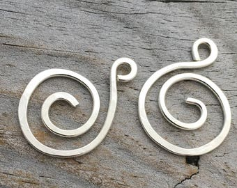 Sterling Silver S Shaped Earring Finding Handmade Sterling Silver Jewelry Findings