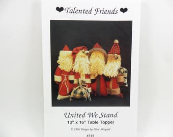Santa Sewing Pattern Talented Friends Table Topper by Stroppel