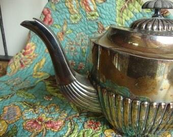 Silver Plate Teapot Etsy