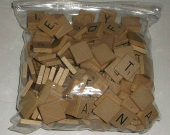 249 Vintage Scrabble Wooden Tiles Letters Crafts Scrap booking Spelling