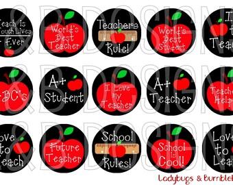 """1"""" Bottle Cap Image Sheet - Teachers Rule!"""