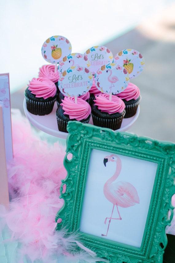 Pink Flamingo Sign Print