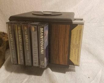 vintage spinning cassette rack