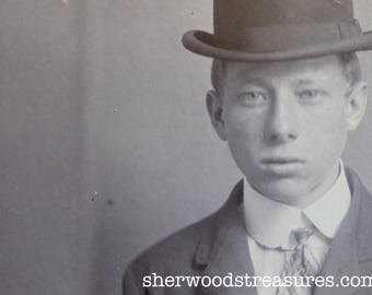1902 New York Police Department Criminal 19 Year Old Iron Worker Burglar MUG SHOT  CDV Antique