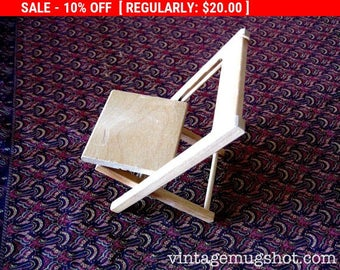 """Christmas In July SALE Vintage Strombecker  Doll Furniture Folding Chair 5 1/2"""" Works Great"""