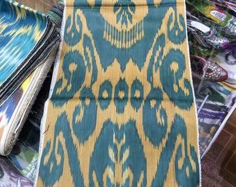 Uzbek handwoven cotton ikat fabric by meter