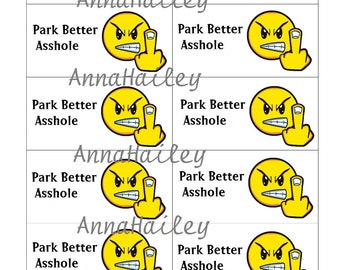 Snarky Parking Cards Funny Park Better Business sized Cards