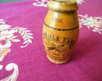 Antique Osbro Wooden Needle Case Germany 1900