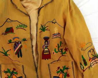 AS IS Vintage Embroidered Blazer Jacket South American design