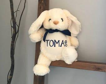 Personalized Stuffed Animal, 1 day ship, stuffed animal, personalized bunny, bunny stuffed animal