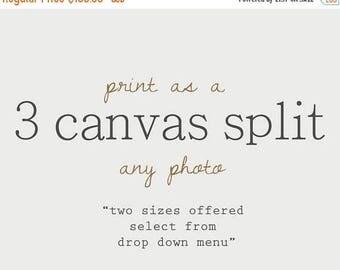FLASH SALE til MIDNIGHT Choose any photo as a 3 Canvas Split