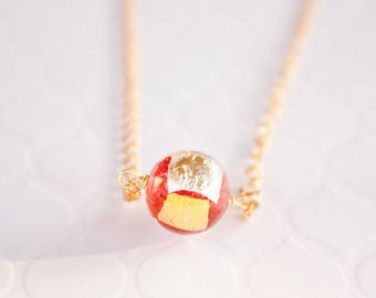 Peppermint Murano Necklace, Authentic Venetian Murano Glass, Ready to Ship