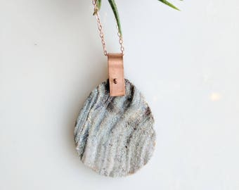 Aura Druzy and Copper Necklace - rose gold necklace - druzy necklace - sparkly necklace - bohemian necklace - gemstone necklace - boho
