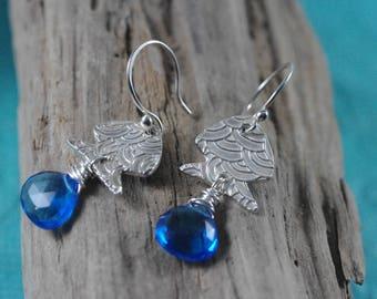 Fine Silver Fish Earrings -