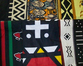 "Best Sellers African print fat quarter bundles 18""x22"" inches 6 pack/quilting/bangles, clutches/ African craft fabrics"