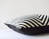 20 x 20 inch Black and White Pillow Cover for Vivian